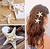 Hair Clip Women Girl Baby Beach Hair Barrette Starfish Hair Accessory (Small 5.5cm)
