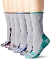 Dickies Women's 6 Pack Dri-Tech Advanced Moisture Wicking Crew Socks