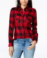Maison Jules Buffalo-Plaid Shirt, Created for Macy's