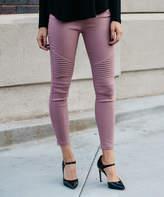 Amaryllis Women's Jeggings Pink - Pink Moto Jeggings - Women & Plus