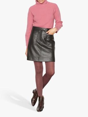 Jigsaw Pocket Leather Mini Skirt