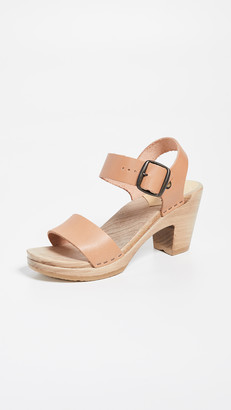 NO.6 STORE Two Strap High Heel Clogs