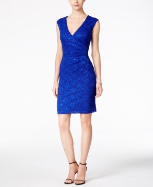 Thumbnail for your product : Connected Sequined Lace Sheath Dress