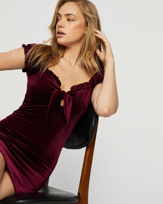 Glamorous Velour SS Mini Dress