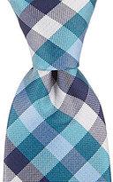 Class Club Checkered Silk Tie