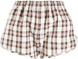 Ashley Williams Elasticated-Waist Check Shorts