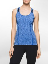 Calvin Klein Performance Space-Dye Racerback Tank Top