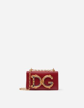 Dolce & Gabbana Girls Phone Bag In Smooth Calfskin