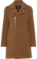 Maje Garius Asymmetric Wool-Blend Felt Coat