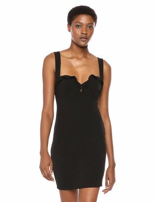 ASTR the Label Women's Emory Stretch Knit Bodycon Ruffle Short Mini Dress