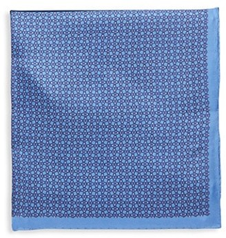 Saks Fifth Avenue Made In Italy Printed Silk Pocket Square