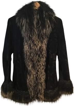 Le Sentier Black Fur Jacket for Women