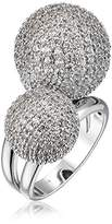 Cara Double Pave Ball Ring, Size 6