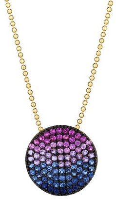 Phillips House Vibrant Affair Large 14K Yellow Gold & Multi-Stone Infinity Pendant Necklace