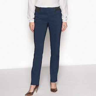 """Anne Weyburn Smart Stretch Trousers with Elasticated Waist, Length 30.5"""""""