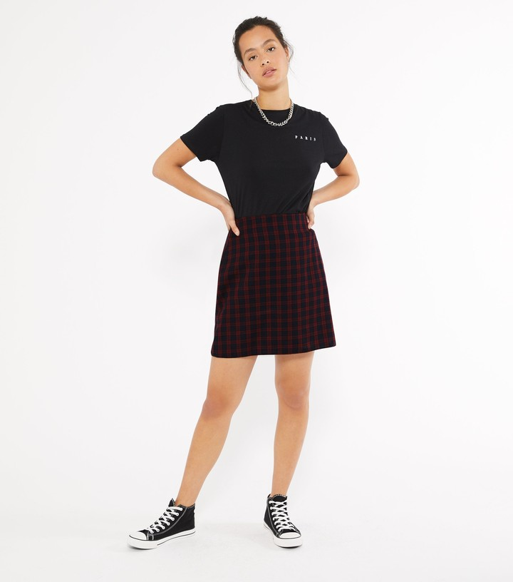 Thumbnail for your product : New Look Check Mini Skirt