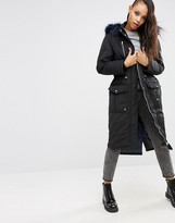 Asos Parka with Faux Fur Hood