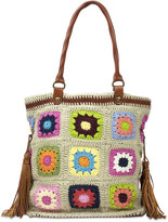 Patricia Nash Knit Squares Bevara Medium Tote