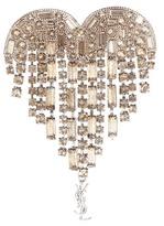 Saint Laurent Crystal-embellished heart brooch