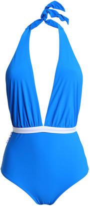 Emma Pake Lucia Bow-embellished Cutout Halterneck Swimsuit