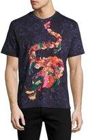 Robert Graham Dragon Floral T-Shirt, Black