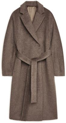 Arket Belted Alpaca and Wool Coat
