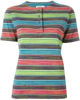 Missoni Pre-Owned striped henley T-shirt