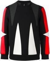 Neil Barrett geometric panelled sweatshirt - men - Cotton/Spandex/Elastane/Lyocell/Viscose - S