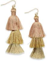 INC International Concepts Ombré Tassel Drop Earrings, Created for Macy's