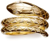 Temple St. Clair 18K Gold Serpent Ring with Diamond Eyes, .02 ct. t.w.