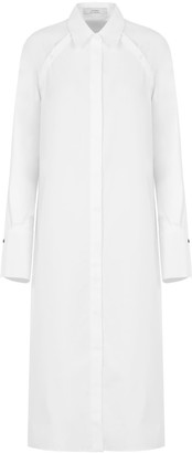 A Line Clothing White Sleeve(Less) Shirt Dress