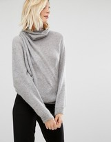 Sisley Sweater in Turtleneck with Drape detail