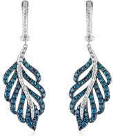 Effy Jewelry Effy Bella Bleu 14K White Gold Blue and White Diamond Earrings, 1.54 TCW