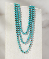 A Blonde And Her Bag A Blonde and Her Bag Women's Necklaces CRYSTAL - Blue Crystal Beaded Necklace