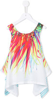 Junior Gaultier printed draped top - kids - Polyester - 8 yrs