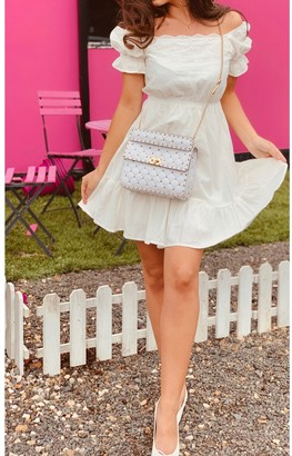 FS Collection Broiderie Anglaise Tiered Summer Dress In White
