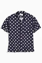 Urban Outfitters Polka Dot Rayon Short Sleeve Button-Down Shirt