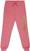 Thumbnail for your product : MOSCHINO BAMBINO Logo cotton jersey sweatpants