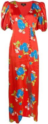 De La Vali Floral-Print Maxi Dress