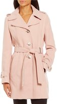 Calvin Klein Faux Wool Single Breasted Trench Coat