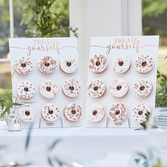 Ginger Ray Botanic Wedding Bronze Foiled Donut Stands