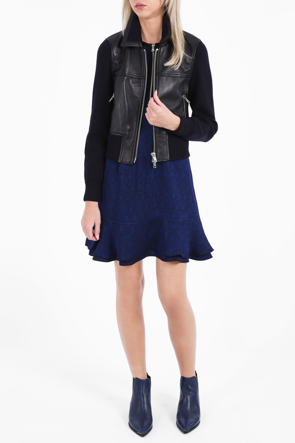 3.1 Phillip Lim Knit Sleeve Leather Jacket