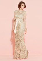 Adrianna Papell Upscale Inspiration Maxi Dress in Champagne