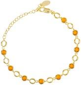 Latelita Milan Link Gemstone Bracelet Gold Citrine