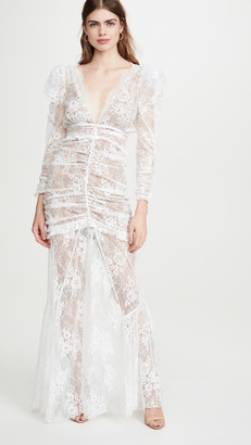 For Love & Lemons Cheyenne Lace Maxi Dress
