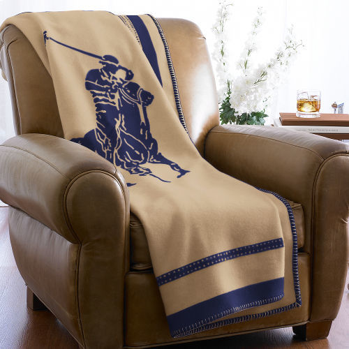 Ralph Lauren Pony Wool-Cashmere Throw