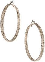Apricot Rose Gold Textured Hoop Earrings