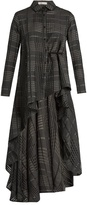 Palmer Harding PALMER//HARDING Extended waterfall-hem cotton and silk shirt