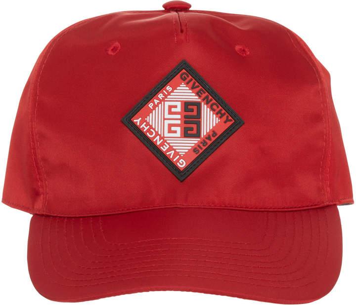 Givenchy Red Logo Cap