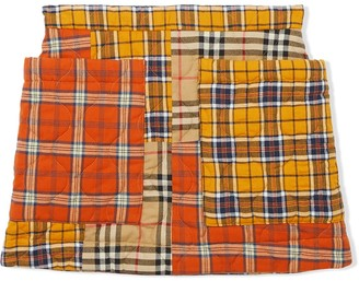 BURBERRY KIDS Patchwork Check Skirt